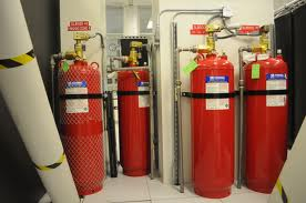 installation of fire suppression system FM 200