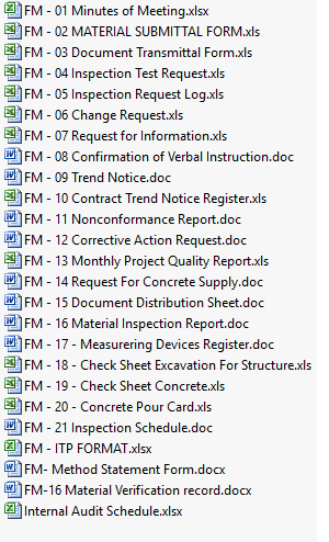 Construction Quality Control Plan Template from methodstatementhq.com