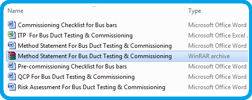 Method Statement For Bus Duct Testing  Commissioning