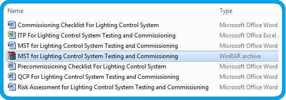 Method Statement For Lighting Control Systems Testing and Commissioning