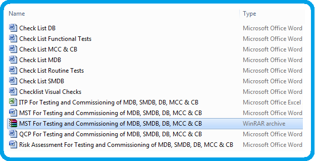 Method Statement For Testing and Commissioning of MDB, SMDB, DB, MCC & CBs