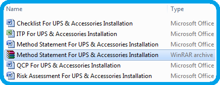 Method Statement For UPS & Accessories Installations
