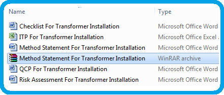 Download Method Statement for Installation  Of Transformers