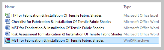 MST for Fabrication & Installation Of Tensile Fabric Shades