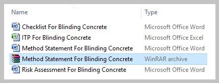 Method Statement For Blinding Concrete