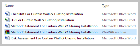 Method Statement For Curtain Wall & Glazing Installation