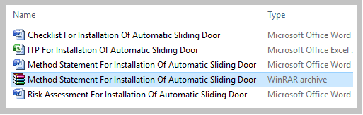Method Statement For Installation Of Automatic Sliding Door