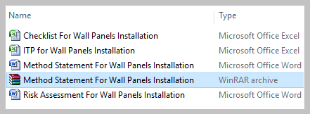 Method Statement For Wall Panels Installation