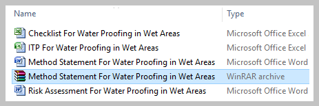 Method Statement For Water Proofing in Wet Areas