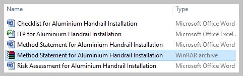 Method Statement for Aluminium Handrail Installation