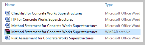 Method Statement for Concrete Works Superstructures