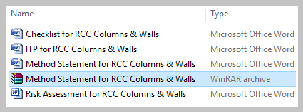 Download Method Statement for RCC Columns & Walls