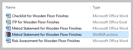 Download Method Statement for Wooden Floor Finishes