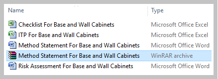 Method Statement For Base and Wall Cabinets