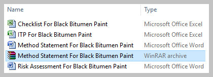 Method Statement For Black Bitumen Paint