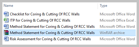 Download Method Statement for Coring & Cutting Of RCC Walls