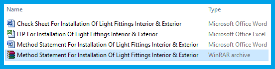 Method Statement For Installation Of Light Fittings Interior & Exterior