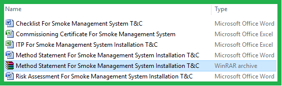 Method Statement For Smoke Management System Installation T&C