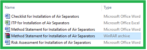Download Method Statement For Installation of Air Separators
