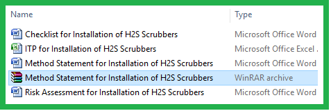 Download Method Statement for Installation of H2S Scrubbers System