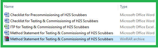 Method Statement for Testing & Commissioning of H2S Scrubbers