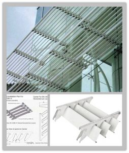 installation method statement for Roof Shading Louvers