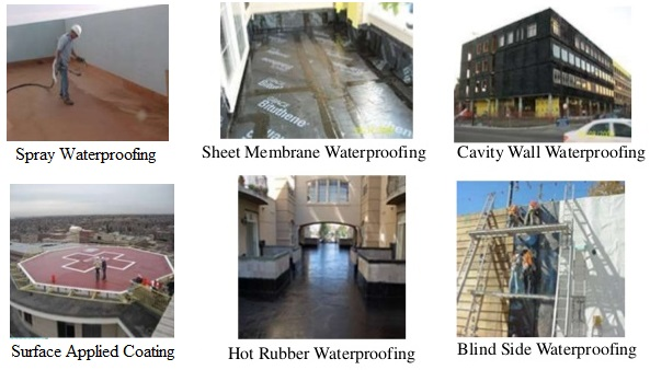 method statement for water proofing in buildings
