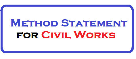 Method Statement for Civil Works - Download Now